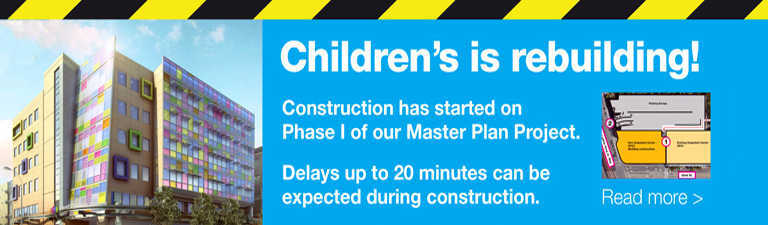 Cunstruction updates for vistitors to UCSF Benioff Children's Hospital Oakland
