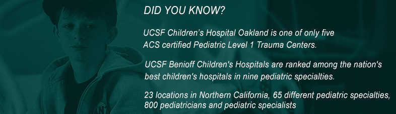 level-1 ACS Trauma Center UCSF Benioff Children's Hospital Oakland