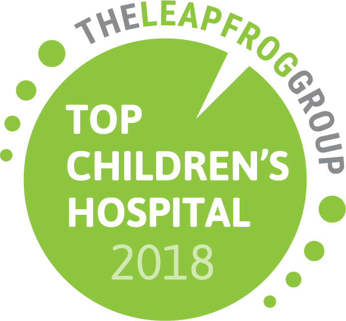 Leapfrog Best Children's Hospital award logo