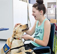 therapy dog with patient