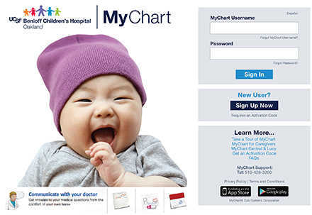 Mychart children s hospital oakland ucsf benioff children s