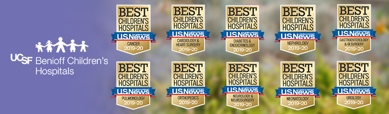UCSF Benioff Children's Hospital ranked in all 10 specialties by US News