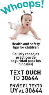 Text OUCH to Receive Injury Prevention Safety Tips